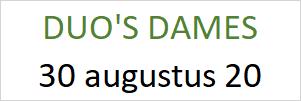 DUO Dames 30 augustus 2020